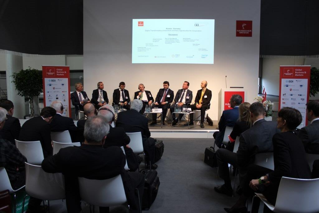Hannover Messe 2017. Russia - Germany Pannel Session