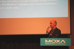 Victor Polyakov presented Tibbo Systems and AggreGate IoT Platform at Moxa IIoT Solution Partner Forum 2019