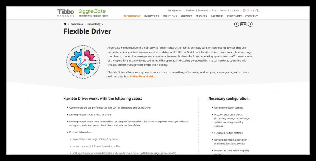 Flexible Driver page